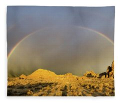 Double Rainbow Gold Fleece Blanket