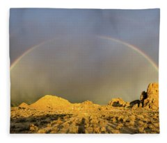 Double Rainbow Gold Fleece Blanket
