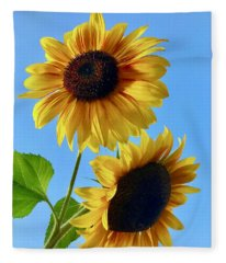 Double Sunflower Fleece Blanket