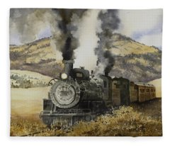 Double Teamin To Cumbres Pass Fleece Blanket