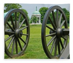 Double Wheel View - Antietam National Battlefield Fleece Blanket