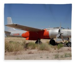 Douglas B-26b Invader N4819e Buckeye Arizona April 29 2011 Fleece Blanket