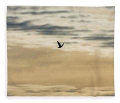 Dove In The Clouds Fleece Blanket