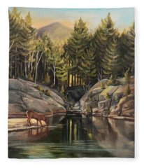 Down By The Pemigewasset River Fleece Blanket