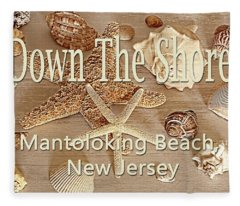 Down The Shore - Mantoloking Beach, New Jersey Fleece Blanket