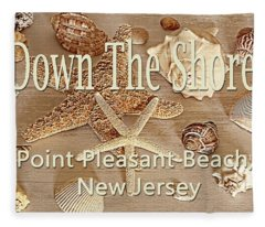Down The Shore - Point Pleasant Beach, New Jersey Fleece Blanket