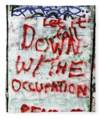 Down With The Occupation Fleece Blanket