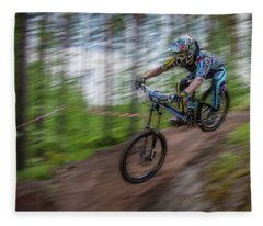 Downhill Race Fleece Blanket