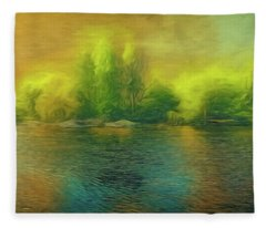 Downriver Glow Fleece Blanket