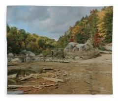 Downstream From Cumberland Falls Fleece Blanket