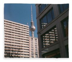 Downtown Berlin Fleece Blanket