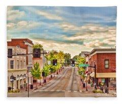 Downtown Blacksburg Fleece Blanket