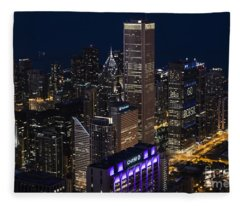 Downtown Chicago Fleece Blanket