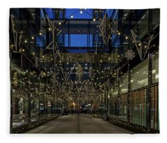 Downtown Christmas Decorations - Washington Fleece Blanket