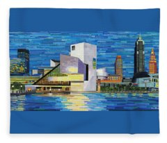 Downtown Cleveland Skyline  Fleece Blanket