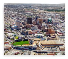 Downtown El Paso Fleece Blanket