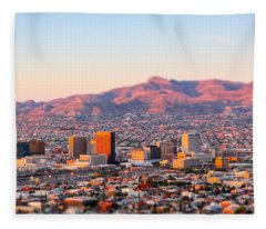 Downtown El Paso Sunrise Fleece Blanket