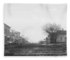 Downtown Hudson Iowa Fleece Blanket