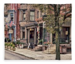 Downtown Jim Thorpe, Pa. Fleece Blanket