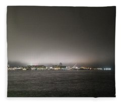 Downtown Oc Skyline Fleece Blanket