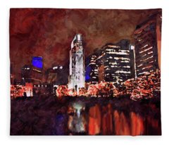 Downtown Omaha Fleece Blanket