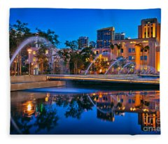Downtown San Diego Waterfront Park Fleece Blanket
