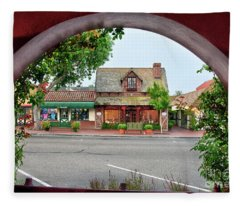 Downtown Solvang Fleece Blanket