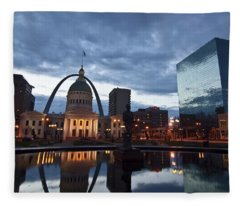 Downtown St. Louis At Dawn Fleece Blanket