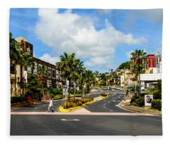 Downtown Tamuning Guam Fleece Blanket