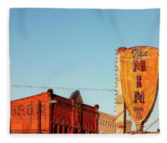 Downtown White Sulphur Springs Fleece Blanket