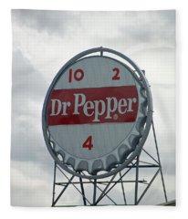 Dr. Pepper Sign - Roanoke Virginia Fleece Blanket