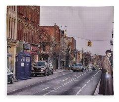 Dr Who In Ypsilanti Fleece Blanket