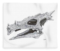 Dracorex Hogwartsia Skull Fleece Blanket