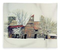 Drafty Old Barn Fleece Blanket