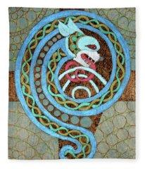 Dragon And The Circles Fleece Blanket