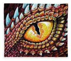 Dragon Eye Fleece Blanket