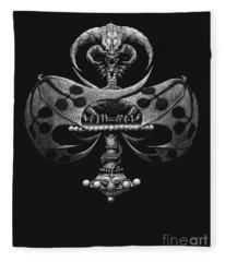 Dragon Of Clubs Fleece Blanket
