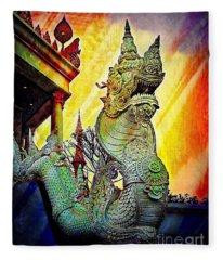 Dragon Of The East Fleece Blanket
