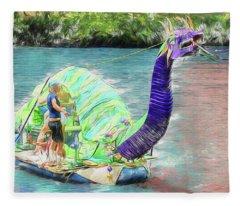 Dragon The Line Fleece Blanket