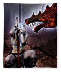 Dragon Whisperer Fleece Blanket