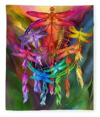 Dragonfly Dreams Fleece Blanket