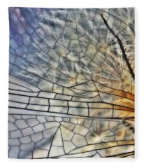 Dragonfly Wing Fleece Blanket