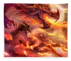 Dragon's Breath Fleece Blanket