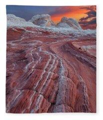 Dragons Tail Sunrise Fleece Blanket
