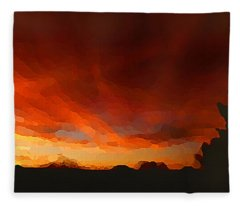 Drama At Sunrise Fleece Blanket