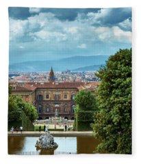 Drama In The Palace Of Firenze Fleece Blanket