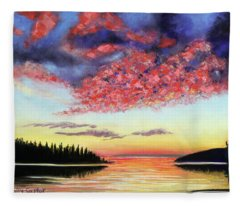 Drama On Deer Isle Fleece Blanket