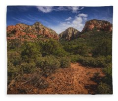 Dramatic Cloudscape Over Capitol Butte Fleece Blanket