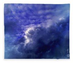 Dramatic Cumulus Sky Fleece Blanket