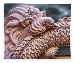 Dramatic Lion And Serpent Legend  Fleece Blanket